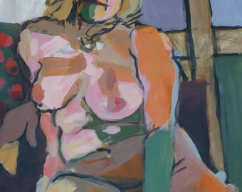 Figurative painting - Orange Patti