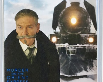 Murder on the Orient Express Kenneth Branagh movie poster Square Fridge Magnet & Square Keyring New