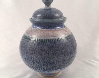 Blue purple urn