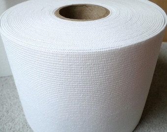 """Wholesale 4"""" extra wide white elastic 12 YARDS roll,  for waistband, belt, costume wear A-004"""