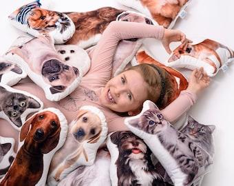CUSTOM pet photo pillow, personalised Stuffed dog, Christmas gift, Animals lover gift, photo pillow, Christmas per pillow, pet lover gift