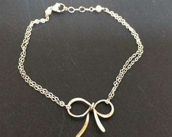 Sweet Sterling Bow Bracelet
