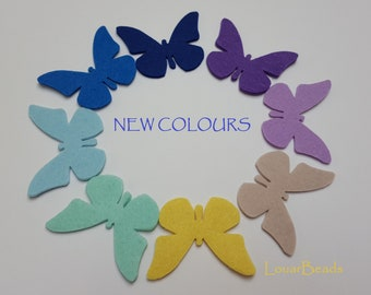 10 Felt Butterflies, 3mm Felt, die cut, DIY, felt cuts, felt shapes, butterfly, felt butterfly