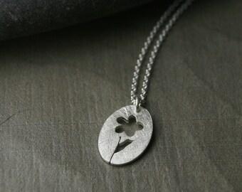 P.E.O. peo daisy marguerite charm sterling silver hand pierced