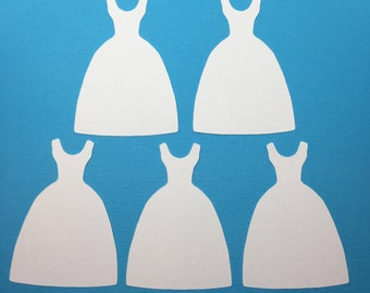 30 Cut Out Die Cut Cardstock Dress, Wedding Dress
