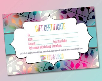 Gift Certificate, Surprise gift, Certificate, Redeemable,Printable  Bucks,Cash, Certificate surprise,Printable Business , Pop Up Shop Cards