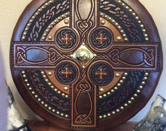 Scottish Targe - Celtic Cross (Made to order)