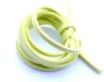 Cord suede acid Green