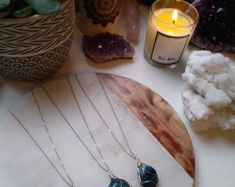 Apatite Wire Wrapped Healing Crystals Necklace