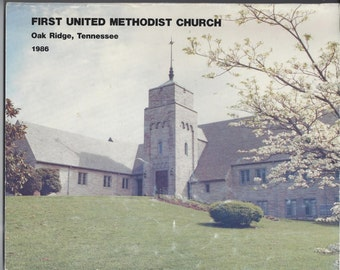 1986 Vintage Church Directory from First United Methodist Church, Oak Ridge, Tennessee, 8 x 10 Inches, Vintage Paper Ephemera, Church