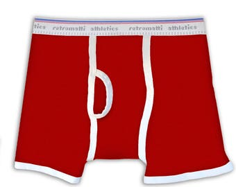 Retro Boxers in Red