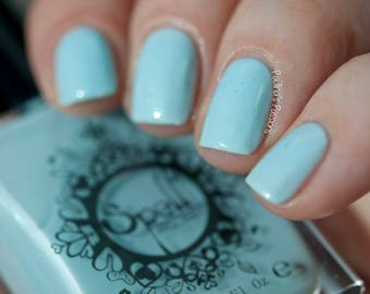 Under Her Veil SPELL nail polish ~baby blue crème ~ shimmer WEDDING!