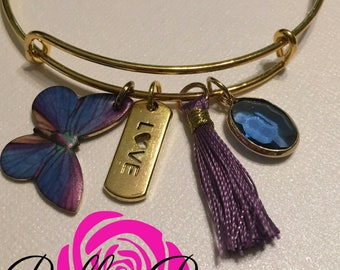The Butterfly Effect Bangle Charm Bracelet