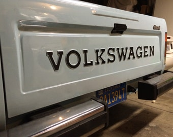 VW Rabbit Pickup Tail Gate Lettering; Restoration Quality! Volkswagen Caddy <Free US Shipping!>