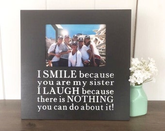 Custom quote picture frame winnie the pooh nursery winnie custom quote sister picture frame personalized picture frame sister birthday gift funny sister negle Images