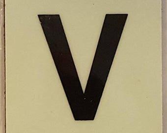 """Photoluminescent Door Identification Number V Sign Heavy Duty / Glow In The Dark """"Door Number"""" Sign Heavy Duty (Aluminum Sign 1.5 X 1.5)"""