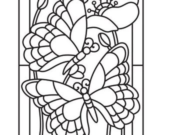 Mosaic Butterfly Embossing Folder