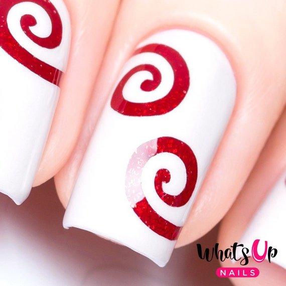 Swirl Tape for Nail Art Spiral Stickers for Nails Nail