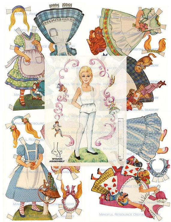 Alice in Wonderland Printable Vintage