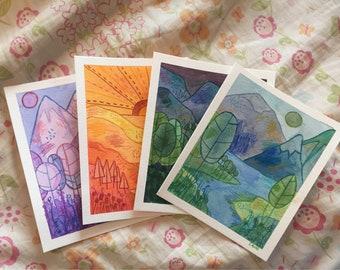 Original Watercolor Landscapes