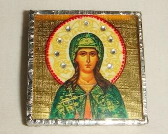 St Julia of Carthage/Corsica Pin & Pendant Icon inv1825