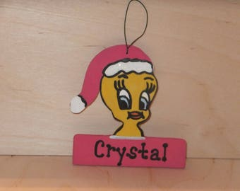Looney Tunes Tweety Christmas Ornament - Personalized
