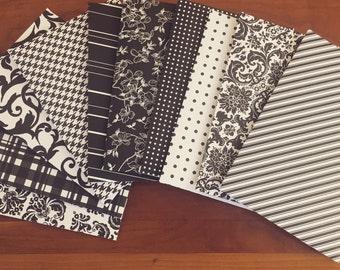 10 Pack of Classic Black & White Envelopes