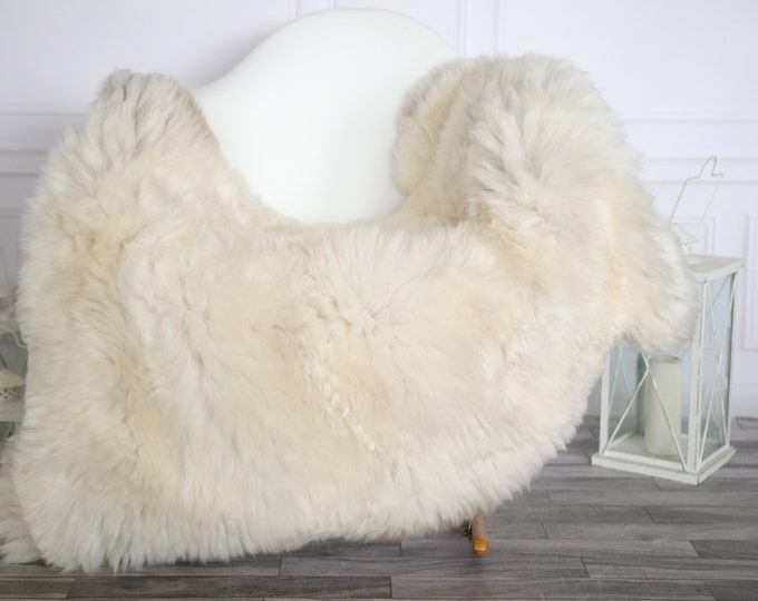 Sheepskin Rug | Real Sheepskin Rug | Shaggy Rug | Sheepskin Throw | Super Large Sheepskin Rug Beige Brown| Home Decor | #HERMAJ74