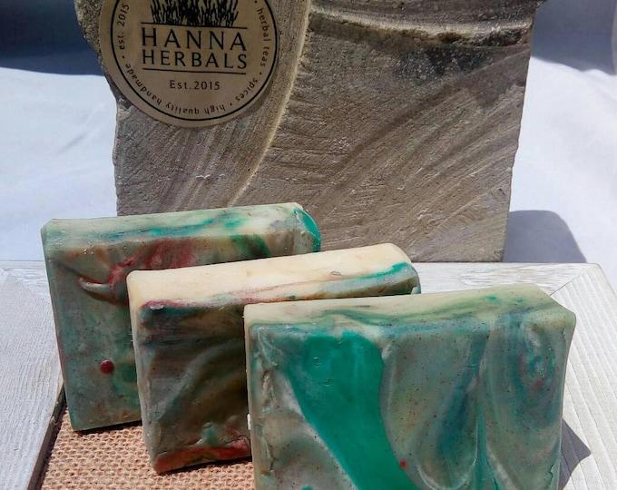 Featured listing image: Island Breeze Soap - Tropical Soap - Jasmine Soap - citrus soap - floral soap - jasmine lemon soap - citrus floral soap - green soap