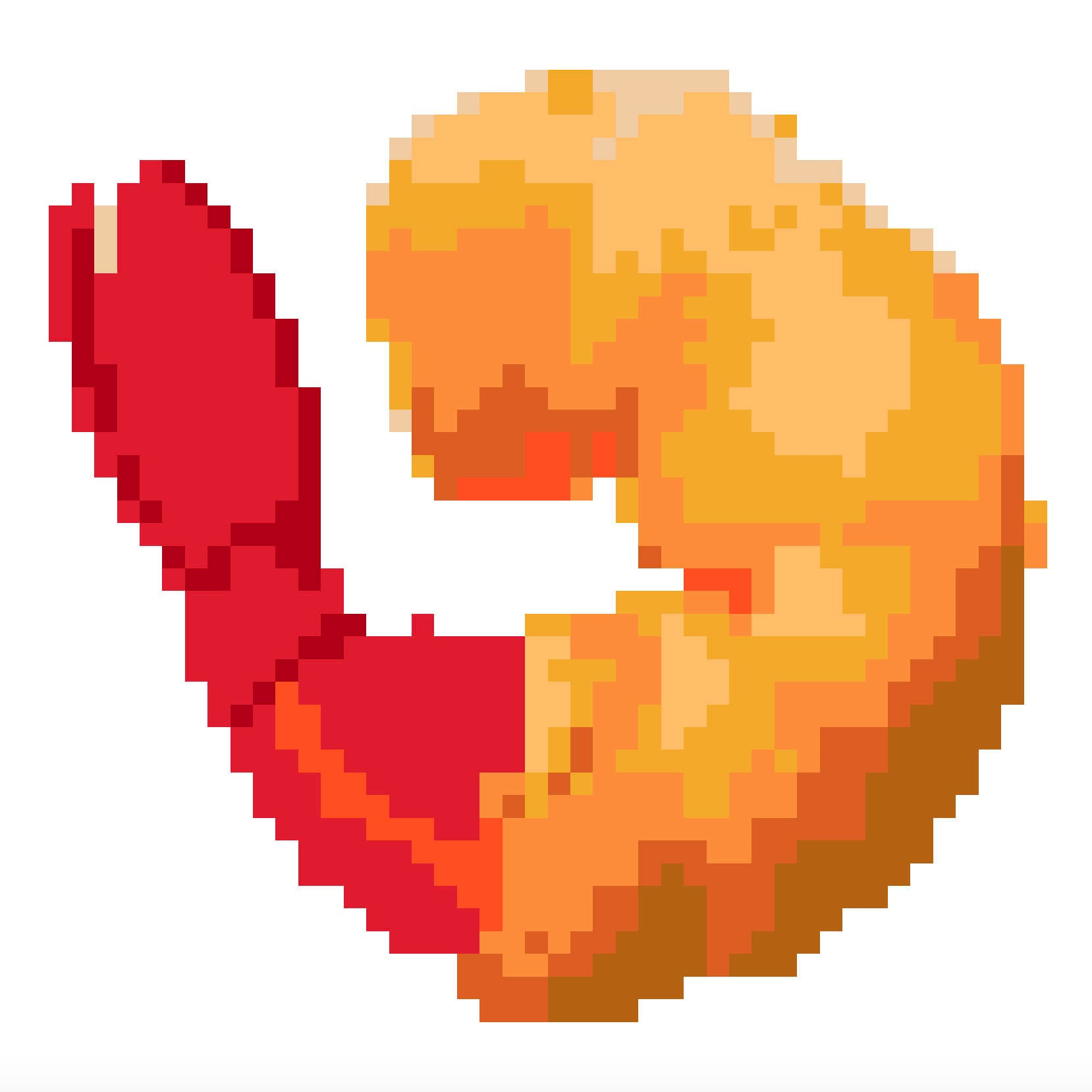 fried shrimp emoji cross stitch pattern from hoopdreamsstudio on rh etsystudio com