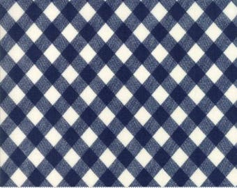 5 YARD CUT SALE Vintage Picnic Navy Gingham by Bonnie and Camille Yardage 55124 37