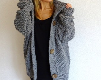 knit cardigan, knit coat, knit jacket, bulky cardigan, bulky wool cardigan, alpaca, knit sweater, oversized, merino, wool, made to order