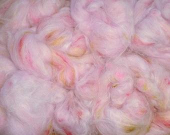 Rose Quartz Angora and Silk Spinning Fiber