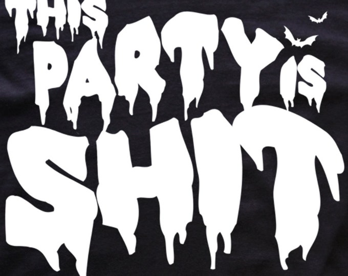 This Party is Shit T-shirt/ goth-bats