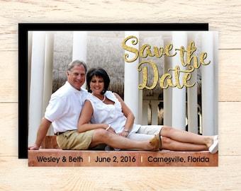 SAVE THE DATE - Horizontal photo card - Wedding save the date cards - save the date invitations