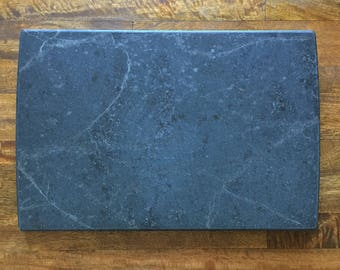 large cheese or serving board in black soapstone 12x18
