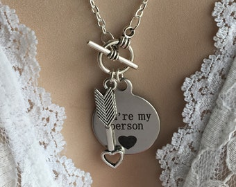 YOU'RE My PERSON Necklace, Best Friend Gift, Sister Gift, Girlfriend Gift, Gift for Mom