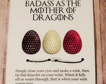 Khaleesi mother of dragons game of thrones card daenerys khaleesi mother of dragons game of thrones card daenerys targaryen game of thrones funny greeting cards mother of dragons bracelet m4hsunfo