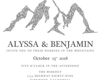 Alyssa and Benjamin In the Mountains