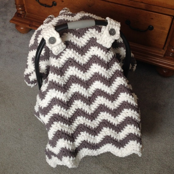 Crochet Pattern for Chunky Chevron Car Seat Canopy Cover - Welcome to sell finished items : free baby car seat canopy - memphite.com