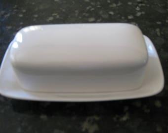 Ben Seibel Butter Dish Mikasa  Duplex White Surf 2500 Japan Mid Century