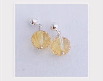 Citrine drop earrings, 100% donated to Democrats