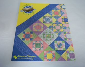 Spring Cleaning Quilt Booklet, 2003 Edition,  By Terry Atkinson, Atkinson Designs, Scrappy Quilts, Quilt Patterns, Good Used Condition