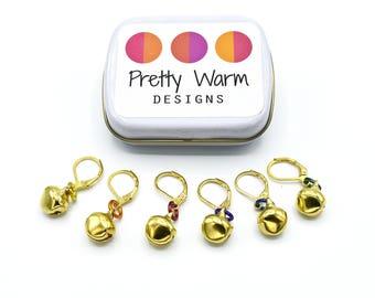 Stitch Markers for Crochet - Crochet Notions - Progress Keeper - Stitch Holder - Locking Marker - Stitch Marker - Christmas Stocking Stuffer