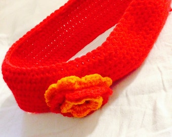 Adult red headband 24 in/ 60 cm