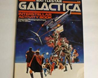 Battlestar Galactica Interstellar Activity Book 1978 Vintage Coloring Book
