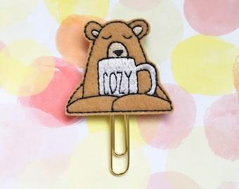 Grumpy Bear Needs A Minute Planner Clip