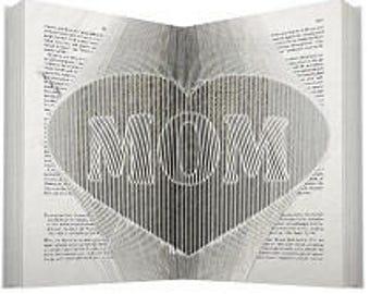 Mom Heart Folded Book Art
