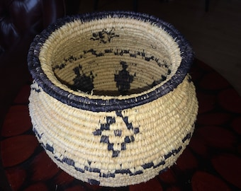 Coiled Basket (Pomo Indian Inspired )