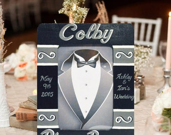 Hand Painted Ring Bearer Picture Frame